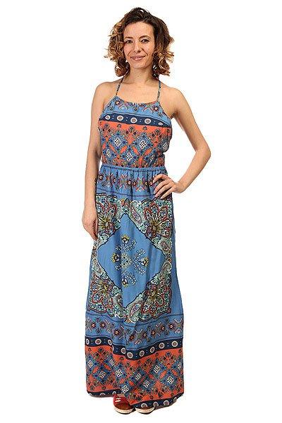 ПЛАТЬЕ ЖЕНСКОЕ SUMMER J WVDR BLA6 AGADIR BORDER COMBOЖенское платье-сарафан для жаркого летнего дня.Характеристики:Декоративный принт. Открытая спина с перекрестными лямками.<br><br>Цвет: голубой,мультиколор<br>Тип: Платье<br>Возраст: Взрослый<br>Пол: Женский