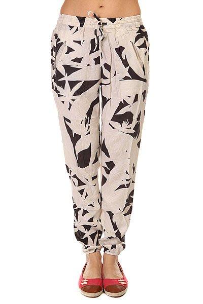 Штаны прямые женские Roxy Sunday Vintage Palm Line Bi<br><br>Цвет: бежевый,черный<br>Тип: Штаны прямые<br>Возраст: Взрослый<br>Пол: Женский