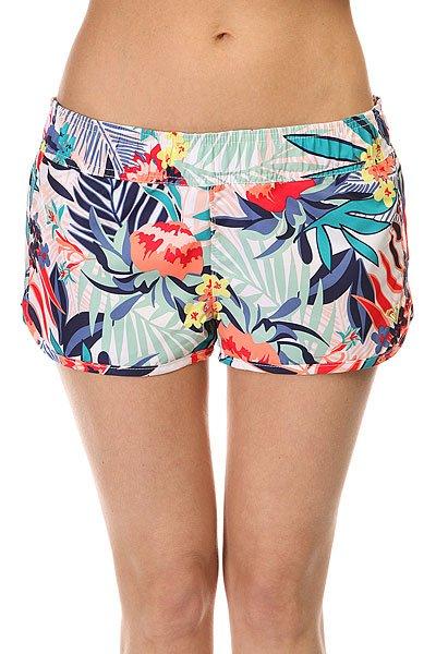 Шорты пляжные женские Roxy Love Bs Canary Islands Floral<br><br>Цвет: белый,мультиколор<br>Тип: Шорты пляжные<br>Возраст: Взрослый<br>Пол: Женский