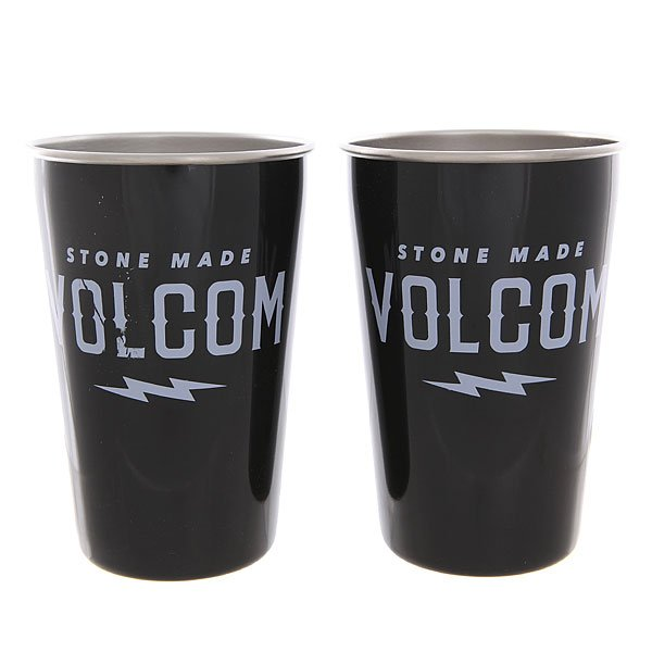 наклейки на сноуборд volcom let it storm stomp black Стакан Mizu Volcom Party Cup Set Glossy Black White Print