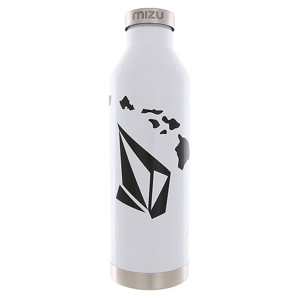 Бутылка для воды Mizu Volcom V8 Stone Hawaii Glossy White Black Print