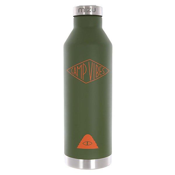 Бутылка для воды Mizu Camp Vibes V8 Diamond St Army Green Orange Print