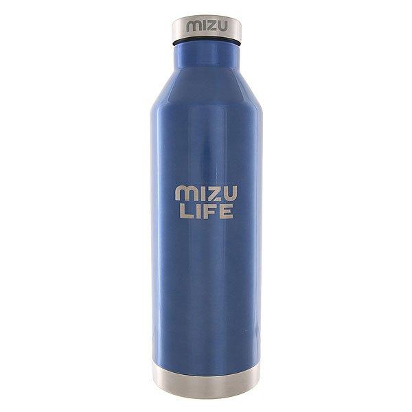 Бутылка для воды Mizu V8 Mizu Life Blue Steel Sst CapБутылка для воды из нержавеющей стали с плотной стальной крышкой сохранит напитки горячими или холодными до 18 часов, что очень удобно в морозы или в жару.Технические характеристики: Материал - пищевая нержавеющая сталь 18/8.Объем - 800 мл.Не содержит бисфенола (BPA Free).Крышка из нержавеющей стали с кольцом.Подходит для холодных и горячих напитков.Сохраняет температуру напитков в течение 12-18 часов.Яркий однотонный дизайн от Mizu.<br><br>Цвет: синий<br>Тип: Бутылка для воды