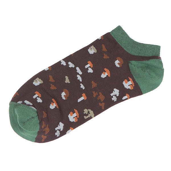 Носки низкие Запорожец Грибочки Черный