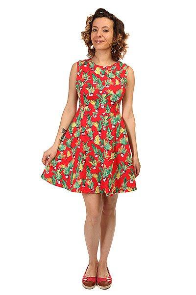 Платье женское Billabong Cali Dreaming Aloha<br><br>Цвет: красный<br>Тип: Платье<br>Возраст: Взрослый<br>Пол: Женский