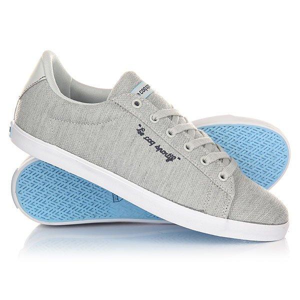 Кеды кроссовки низкие женские Le Coq Sportif Agate Lo Summer Jersey Galet/Sky Blue