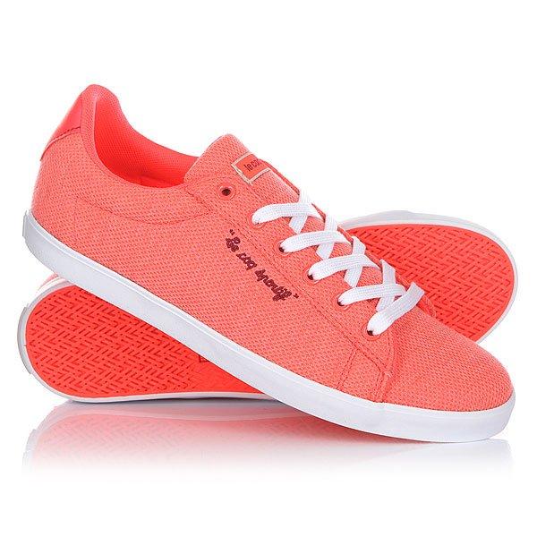 Кеды кроссовки низкие женские Le Coq Sportif Agate Lo Summer Jersey Fiery Coral/Ruby цены онлайн
