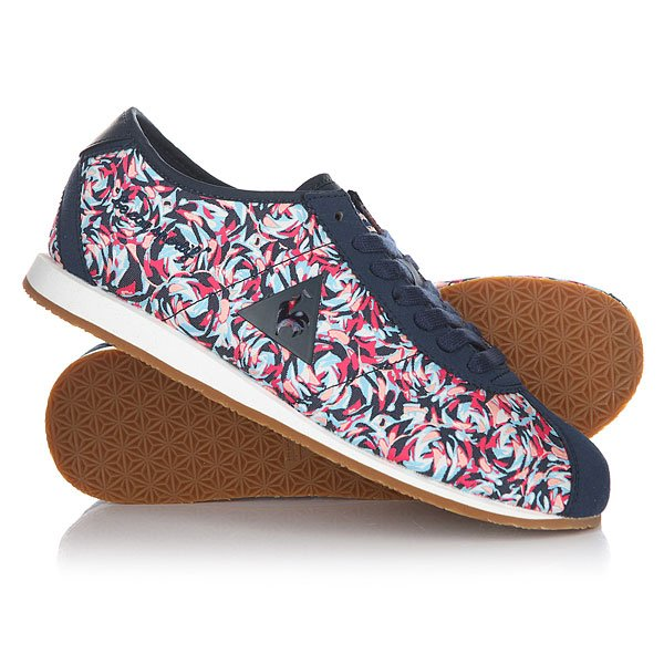 Кроссовки женские Le Coq Sportif Wendon Flower Jacquard Dress Blue сумка через плечо le coq sportif dolicho reporter bag black ultra blue