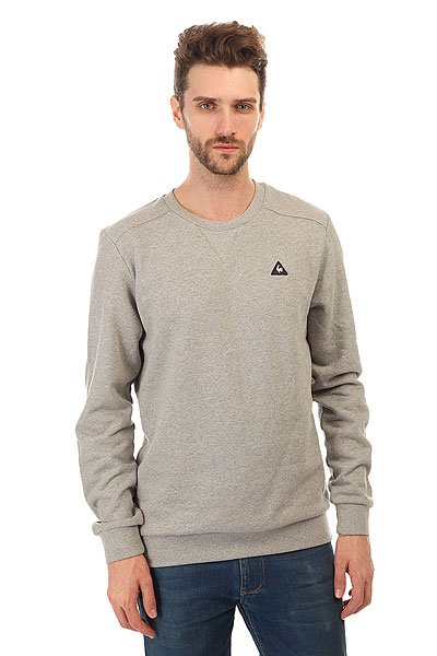 Толстовка свитшот Le Coq Sportif Bagic Crew Sweat Light Heather Grey