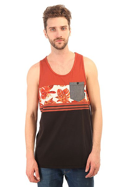 Майка Billabong Brotanicle Tank Burnt Orange<br><br>Цвет: коричневый,черный<br>Тип: Майка<br>Возраст: Взрослый<br>Пол: Мужской