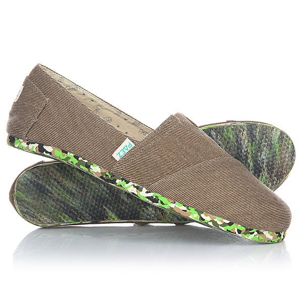 Эспадрильи Paez Original Cork Multigreen Light Brown-0100