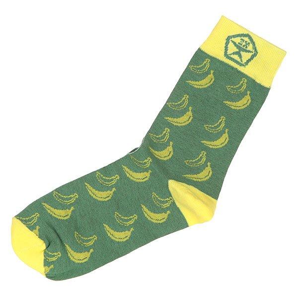 Носки средние Запорожец Банан Зеленый<br><br>Цвет: зеленый,желтый<br>Тип: Носки средние<br>Возраст: Взрослый<br>Пол: Мужской