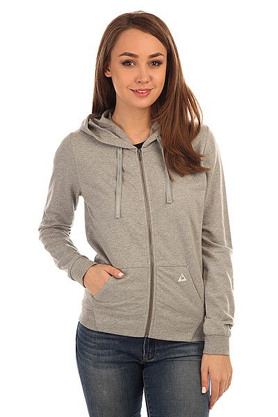 Толстовка классическая женская Le Coq Sportif Macramй Fz Hood Heather Titanium le coq sportif толстовка классическая le coq sportif ailier fz hood brushed light heather grey