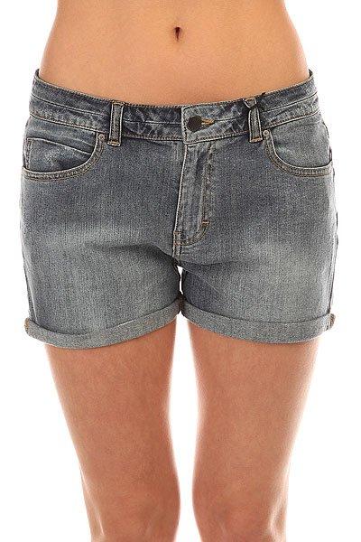 Шорты джинсовые женские Billabong Elvis 2 Used<br><br>Цвет: синий<br>Тип: Шорты джинсовые<br>Возраст: Взрослый<br>Пол: Женский