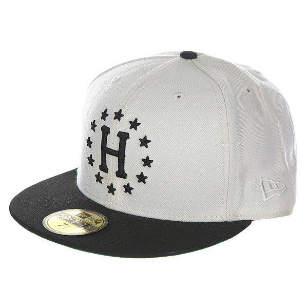 Бейсболка с прямым козырьком Huf Z 12 Galaxies New Era Stone/Black