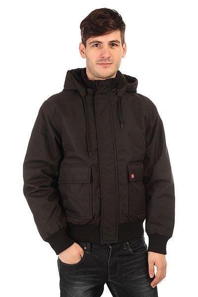 Куртка зимняя Dickies Keane 6.6 Jacket BlackКороткая мужская куртка с утеплением дополнена объемными карманами для рук и съемным капюшоном для удобства.Технические характеристики: Прочный, дышащий и водоотталкивающий материал.Стеганая подкладка из тафты.Съемный капюшон на шнурках.Эластичные манжеты и подол.Вместительные карманы для рук на кнопках.Внутренний карман.Застежка на молнии по всей длине.Нашивка с логотипом на кармане.<br><br>Цвет: синий<br>Тип: Куртка зимняя<br>Возраст: Взрослый<br>Пол: Мужской