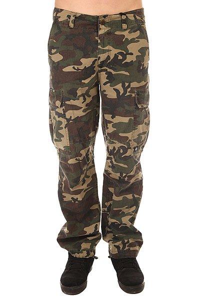 Штаны прямые Dickies New York Camouflage<br><br>Цвет: зеленый,коричневый,бежевый<br>Тип: Штаны прямые<br>Возраст: Взрослый<br>Пол: Мужской