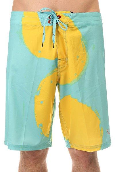 Шорты пляжные Lost The Blobs Aqua<br><br>Цвет: голубой,желтый<br>Тип: Шорты пляжные<br>Возраст: Взрослый<br>Пол: Мужской