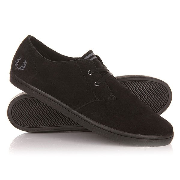 ���� ��������� ������ Fred Perry Byron Low Suede Black