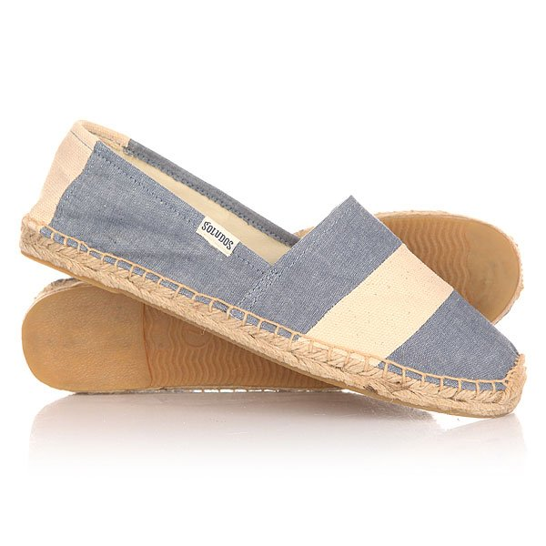 Эспадрильи женские Soludos Stripe Print Chambray Natural