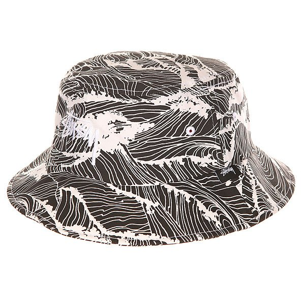 Панама женская Stussy Waves Bucket Hat Black