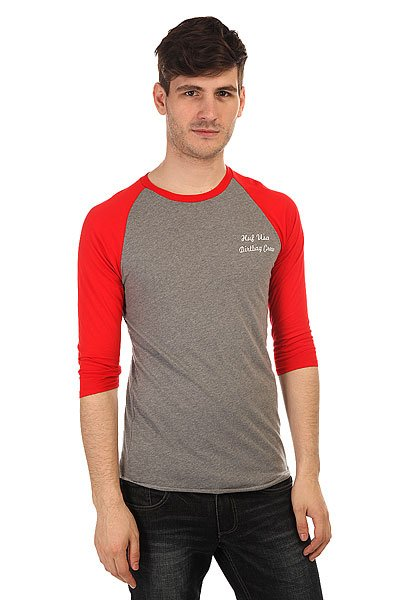 Лонгслив Huf Dirtbag Crew Usa Raglan Grey Heather/Red