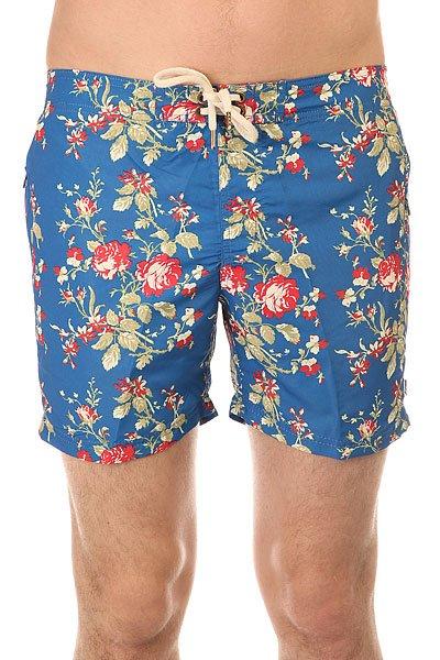 Шорты пляжные Запорожец Цветочки Royal<br><br>Цвет: синий<br>Тип: Шорты пляжные<br>Возраст: Взрослый<br>Пол: Мужской