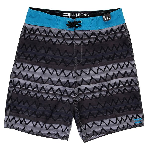 Шорты пляжные детские Billabong An Zigzag 15 Black<br><br>Цвет: черный<br>Тип: Шорты пляжные<br>Возраст: Детский