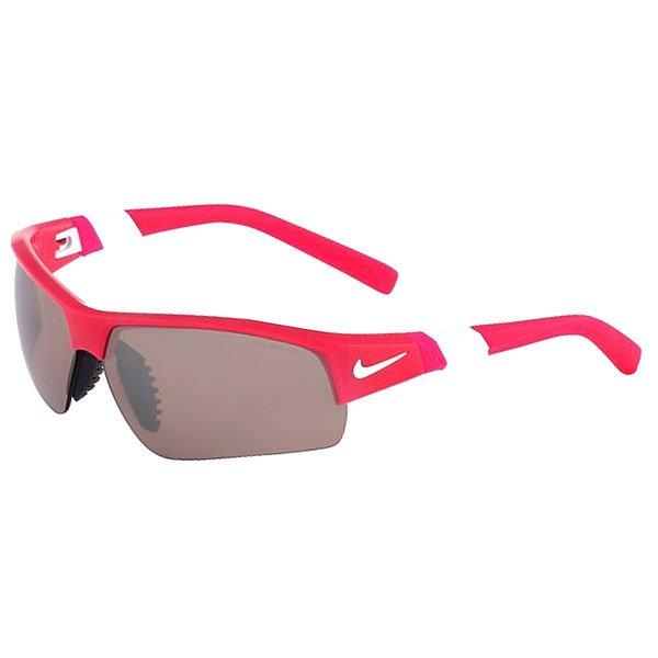 Очки Nike Optics Show X2 E Pink Force + Max Speed Tint/Grey LensОчки с отличным сцеплением, стабильностью и комфортом. Линзы Nike MAX Speed Tint уменьшают воздействие яркого солнечного света на глаза, сокращают блики. Идеальные очки для велосипедных прогулок или поездок за рулем.Технические характеристики: Вентилируемая переносица улучшает комфорт и уменьшает запотевание.Петли Cam-action.Линзы Nike MAX Speed Tint уменьшают воздействие яркого солнечного света на глаза, сокращают блики.Легкий нейлоновый каркас для комфорта и долговечности.100% защиты от УФ-лучей.Спортивный дизайн предлагает комфортное покрытие и сводит к минимуму визуальные помехи.Длина оправы 16 см.Длина дужки 14 см.Высота оправы 4  см.Логотип Nike.<br><br>Цвет: розовый<br>Тип: Очки<br>Возраст: Взрослый<br>Пол: Мужской