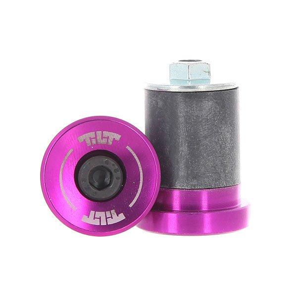 Заглушка на грипсы Tilt Beacon 22 Bar Ends small PurpleАлюминиевые заглушки для руля уменьшенного размера.Технические характеристики: Заглушки изготовлены из прочного алюминия 7075-T6.Логотип Tilt.<br><br>Цвет: фиолетовый,черный<br>Тип: Заглушка на грипсы