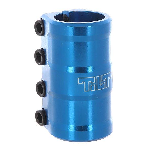 Зажимы Tilt Arc Scs Lt BlueКрепкий и изящный зажим Tilt Arc Scs Lt Blue с болтами.Технические характеристики: Материал - алюминий 606-Т6.Для системы SCS.Шайба и болты в комплекте.Для руля стандартного размера.Логотип Tilt.<br><br>Цвет: голубой<br>Тип: Зажимы