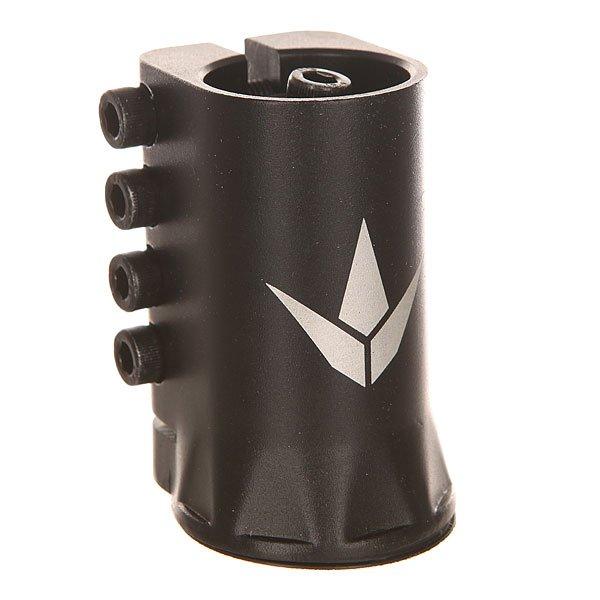 Зажимы Blunt Scs H Clamp BlackХомут для трюкового самоката Blunt SCS H Clamp.Характеристики:Материал: алюминий 6061. Высота: 72 мм.Вес: 235 гр. 4-х болтовый. Только для рулей 31.8 мм. Комплектуется SCS адаптером, позволяющем использовать рули с пропилом, не обрезая их.<br><br>Цвет: черный<br>Тип: Зажимы