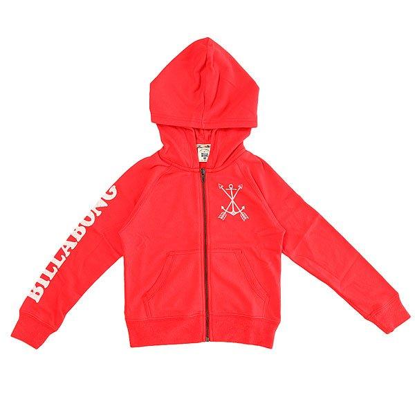 Толстовка классическая детская Billabong Sunshine Day Hibiscus<br><br>Цвет: красный<br>Тип: Толстовка классическая<br>Возраст: Детский