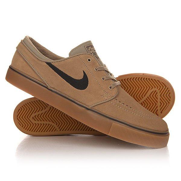 Кеды кроссовки низкие Nike Zoom Stefan Janoski Khaki/Black Gum/Light Brown