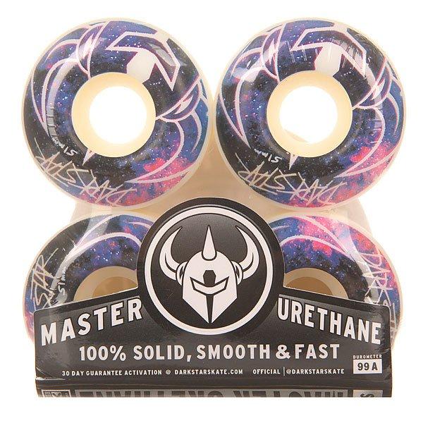 Колеса для скейтборда для скейтборда Darkstar Mystic Purple/White 99A 51 mmДиаметр: 51 mm    Жесткость: 99A    Цена указана за комплект из 4-х колесDarkstar Skateboards родилась в 1997 году как узкопрофильная компания по производству колес для скейтбордов.У Darkstar есть своя эксклюзивная формула Master Urethane, благодаря которой колёса получаются невероятно быстрыми, долго не изнашиваются и не «тают» от нагревания при катании на большой скорости.Характеристики:Жесткость:99А.Диаметр: 51 мм.<br><br>Цвет: белый,мультиколор<br>Тип: Колеса для скейтборда<br>Возраст: Взрослый<br>Пол: Мужской