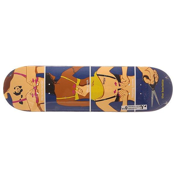 Дека для скейтборда для скейтборда Enjoi S6 Barletta R7 How To 31.7 x 8.25 (21 см)Ширина деки: 8.25 (21 см)    Длина деки: 31.7 (80.5 см)    Количество слоев: 7Про модель Louie Barletta. Прочная дека из 7 слоев клена с технологией Resin 7 construction.Технические характеристики: Прессованная конструкция из 7 слоев клена.Технология Resin 7 construction - добавление специального эпоксидного клея для прочности и сохранности деки.Мягкий конкейв и крутой киктейл.Легкая конструкция.Колесная база 36,2 см.<br><br>Цвет: мультиколор<br>Тип: Дека для скейтборда<br>Возраст: Взрослый<br>Пол: Мужской