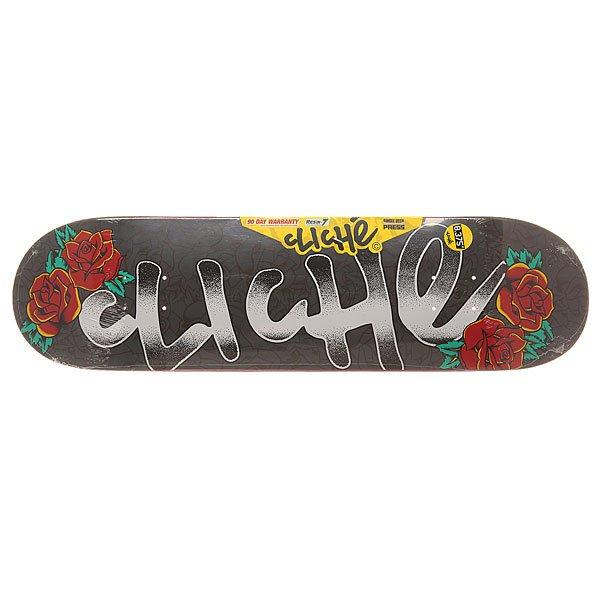 Дека для скейтборда для скейтборда Cliche S6 Hyb Handwritten Tattoo Multi 31.8 x 8.375 (21.3 см)Ширина деки: 8.375 (21.3 см)    Длина деки: 31.8 (80.8 см)    Количество слоев: 7Прочная дека из 7 слоев клена, которая гарантирует профессиональное качество и продолжительную службу.Технические характеристики: Конструкция Resin-7 Construction - 7 слоев прочного прессованного клена с добавлением клея из эпоксидной смолы.Колесная база 36,2 см.Яркий графический принт Handwritten Tattoo.<br><br>Цвет: серый<br>Тип: Дека для скейтборда<br>Возраст: Взрослый<br>Пол: Мужской