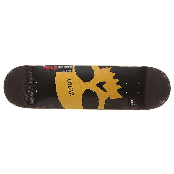 Дека для скейтборда для скейтборда Zero S6 Rhm Single Skull K/O 31.8 x 8.125 (20.6 см)Ширина деки: 8.125 (20.6 см)    Длина деки: 31.8 (80.8 см)    Количество слоев: 7Легкая и прочная дека из 7 слоев прессованного канадского клена и эпоксидного клея с винтажной графикой в стиле 90-х.Технические характеристики: Прессованная конструкция <br>RESIN-7  из 7 слоев канадского клена и клея из эпоксидной смолы.Мягкий конкейв.Форма Popsicle.Колесная база 36,2 см.<br><br>Цвет: черный,желтый<br>Тип: Дека для скейтборда<br>Возраст: Взрослый<br>Пол: Мужской