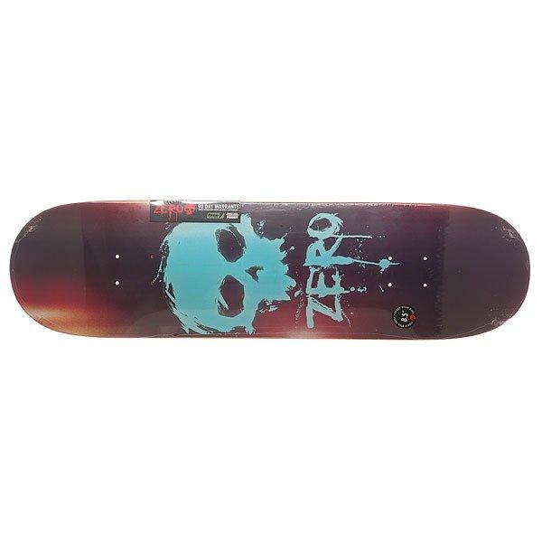 Дека для скейтборда для скейтборда Zero S6 R7 Blood Skull 32.3 x 8.5 (21.6 см)Ширина деки: 8.5 (21.6 см)    Длина деки: 32.3 (82 см)    Количество слоев: 7Легкая и прочная дека из 7 слоев прессованного канадского клена и эпоксидного клея с винтажной графикой в стиле 90-х.Технические характеристики: Прессованная конструкция   RESIN-7  из 7 слоев канадского клена и клея из эпоксидной смолы.Конкейв Х-15.Форма Popsicle.Колесная база 36,83 см.<br><br>Цвет: мультиколор<br>Тип: Дека для скейтборда<br>Возраст: Взрослый<br>Пол: Мужской