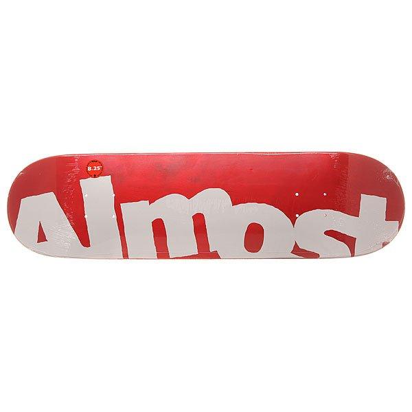 Дека для скейтборда для скейтборда Almost S6 Hyb Side Pipe Red 31.5 x 8.25 (21 см)Ширина деки: 8.25 (21 см)    Длина деки: 31.5 (80 см)    Количество слоев: 7Легкая и прочная дека из прессованного 100% канадского клена с добавлением клея из эпоксидной смолы. Подходит для любого стиля катания на любой местности.Технические характеристики: Прессованная конструкция RESIN-7 из 7 слоев канадского клена и клея из эпоксидной смолы.Конкейв Full.Колесная база 35,56 см.<br><br>Цвет: белый,красный<br>Тип: Дека для скейтборда<br>Возраст: Взрослый<br>Пол: Мужской