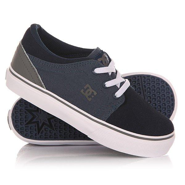 Кеды кроссовки низкие детские DC Trase Slip Navy/Grey