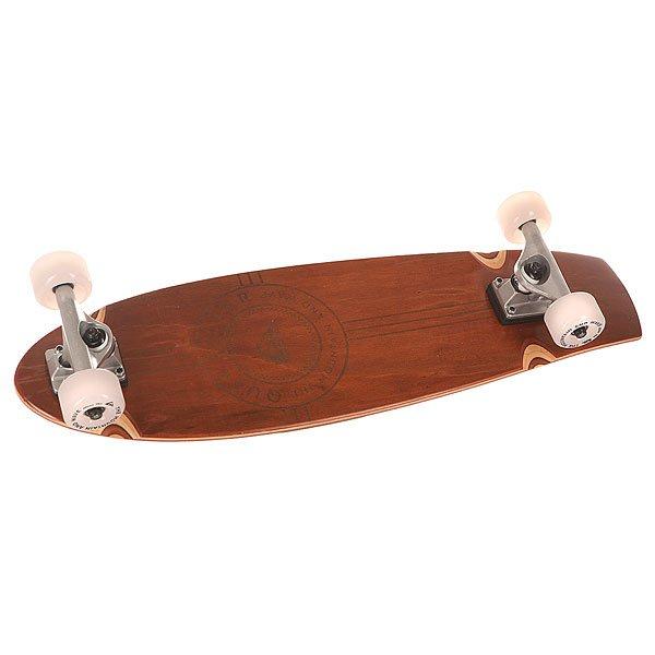 Скейт мини круизер Quiksilver Woody Wood 8.5 x 29 (73.6 см)Универсальная модель, которая выступает между скейтбордом и круизером. Это кроссовер, который прекрасно прослужит в качестве летательного аппарата.Технические характеристики: Материал - канадский клен.Очень низкий конкейв с киктейлом.Песчаная шкурка.Японский клей на водной основе.Подшипники ABEC 9.Алюминиевые спейсеры.Подвеска - классический kingpin 13 см.Длина деки - 73,6 см, ширина - 22 см.Колеса 60х40 мм, 78А.<br><br>Цвет: коричневый<br>Тип: Скейт мини круизер<br>Возраст: Взрослый<br>Пол: Мужской