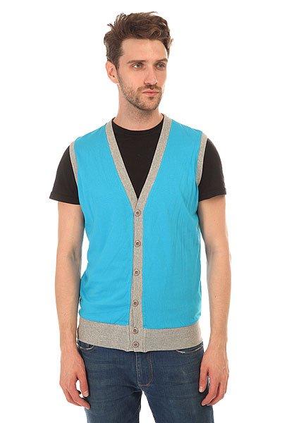 Жилетка Urban Classics Jersey Button Vest Turquoise/GreyЛегкий контрастный жилет станет изюминкой вашего гардероба и подчеркнет ваш стиль.Характеристики:Изготовлен из хлопка. Застежка – пуговицы.<br><br>Цвет: голубой,серый<br>Тип: Жилетка<br>Возраст: Взрослый<br>Пол: Мужской