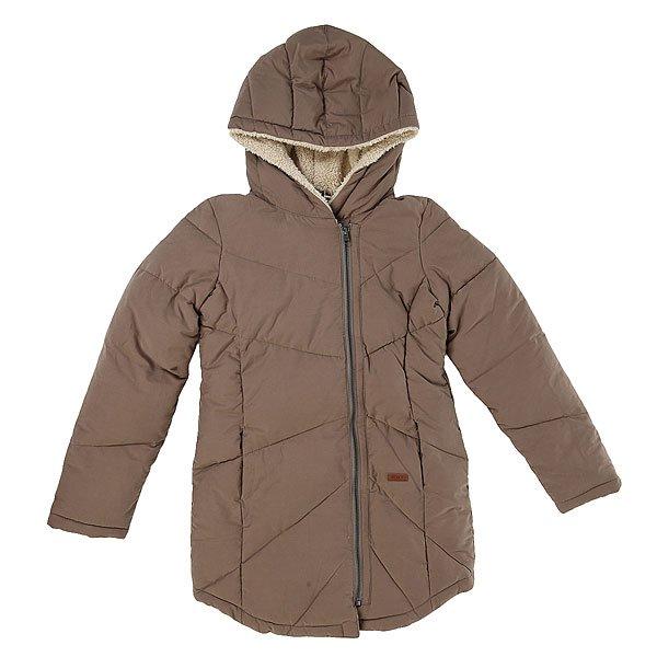 Куртка зимняя детская Roxy Chilly Daze G Jckt Brown