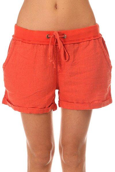 Шорты классические женские Roxy Crossing Chili<br><br>Цвет: оранжевый<br>Тип: Шорты классические<br>Возраст: Взрослый<br>Пол: Женский