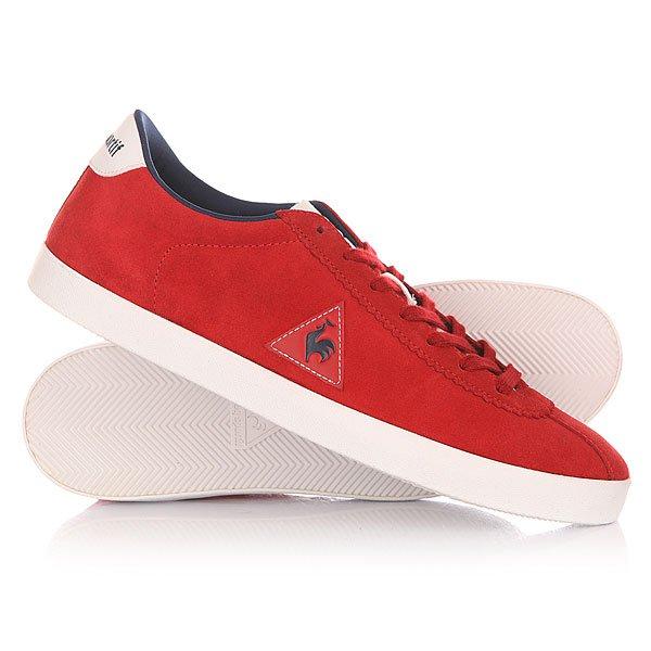 Кеды кроссовки низкие Le Coq Sportif Court Origin Suede Vintage Red