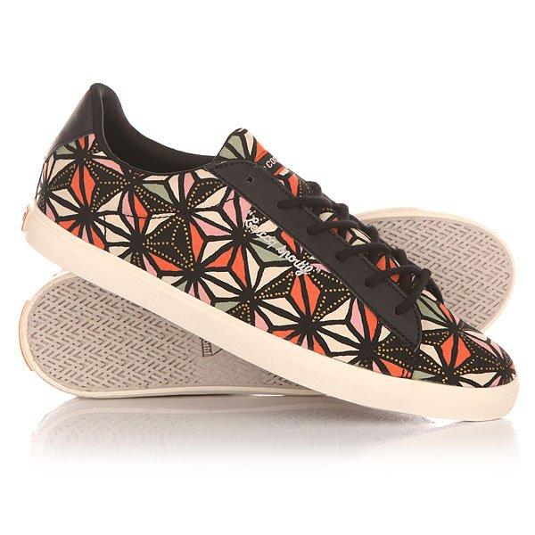 Кеды кроссовки низкие женские Le Coq Sportif Agate Lo Graphic Black/Flamingo
