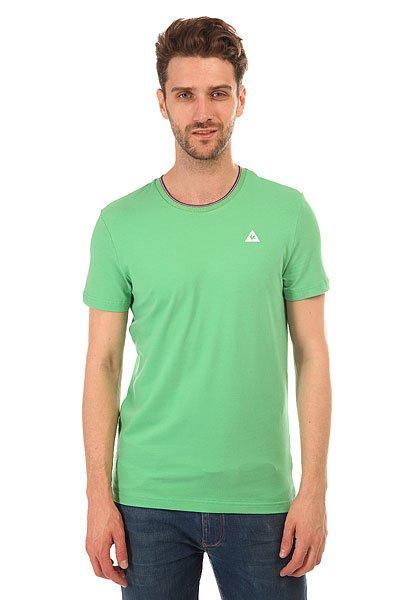 Футболка Le Coq Sportif Anglin Tee Vintage GreenФутболка Le Coq Sportif выполнена из хлопкового трикотажа.Характеристики:Модель прямого кроя. Круглый вырез.Короткий рукав. Флок-принт в виде логотипа.<br><br>Цвет: зеленый<br>Тип: Футболка<br>Возраст: Взрослый<br>Пол: Мужской