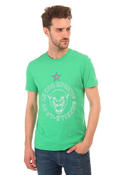 Футболка Le Coq Sportif Gamonia Tee EtienneСтильная мужская футболка Le Coq Sportif выполнена из хлопкового трикотажа – то, что вы искали для летнего гардероба.Характеристики:Модель прямого кроя. Круглый вырез.Короткий рукав. Принт на груди.<br><br>Цвет: зеленый<br>Тип: Футболка<br>Возраст: Взрослый<br>Пол: Мужской