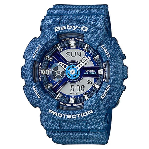 Кварцевые часы детские Casio Baby-g BA-110DC-2A2 BlueНаручные часы в классическом спортивном дизайне с функциональными стрелками и стандартным набором необходимых опций на каждый день.Технические характеристики: Светодиодная подсветка.Ударопрочная конструкция защищает от ударов и вибрации.Функция мирового времени.Функция секундомера- 1/100 сек. - 24 часа.Таймер - 1/1 мин. - 24 часа.5 ежедневных будильников.Функция повтора будильника.Включение/выключение звука кнопок.Автоматический календарь.12/24-часовое отображение времени.Минеральное стекло - прочное, устойчивое к царапинам минеральное стекло защищает часы от повреждений.Корпус из полимерного пластика.Ремешок из полимерного материала.Время работы аккумулятора - 2 года.Точность +/- 30 сек в месяц.<br><br>Цвет: синий<br>Тип: Кварцевые часы<br>Возраст: Детский